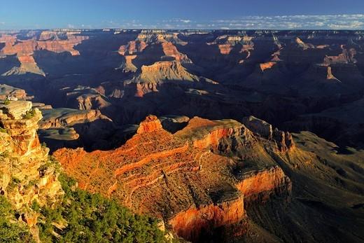 Stock Photo: 1848-556571 Morning at Yaki Point, Grand Canyon South Rim, South Rim, Arizona, United States, America