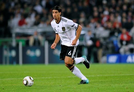 Stock Photo: 1848-557197 Sami Khedira, qualifier for the UEFA European Football Championship 2012, Germany _ Azerbaijan 6:1, RheinEnergieStadion stadium, Cologne, North Rhine_Westphalia, Germany, Europe