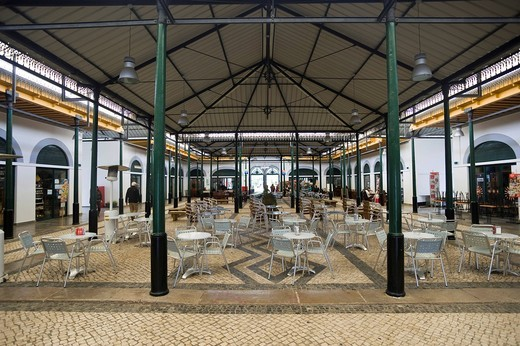 Stock Photo: 1848-557778 Antique market hall, Tavira, Algarve, Portugal, Europe