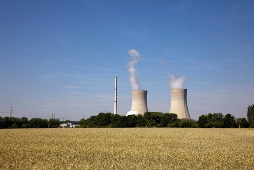 Grafenrheinfeld Nuclear Power Station, Bavaria, Germany, Europe : Stock Photo