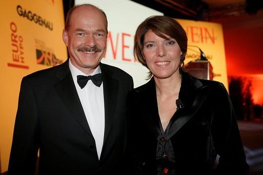 Grandhotel Schloss Bensberg, Wine Awards 2007, Thomas Althoff and Bettina Boettinger : Stock Photo