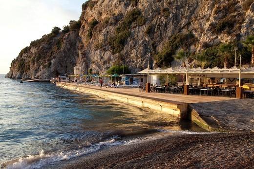 Bay in the evening light, Aegean Coast, Lycia, Turkey, Asia : Stock Photo