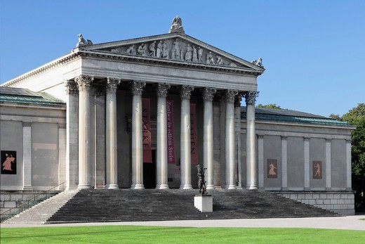 Stock Photo: 1848-559138 State Collection of Antiquities on Koenigsplatz square, Munich, Upper Bavaria, Bavaria, Germany, Europe