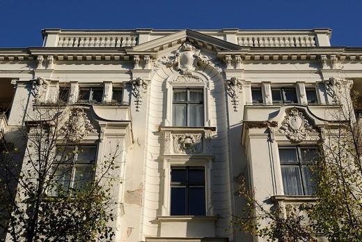 Stock Photo: 1848-559261 Elegant old buildings in Bleibtreustrasse street, Charlottenburg, Wilmersdorf district, Berlin, Germany, Europe
