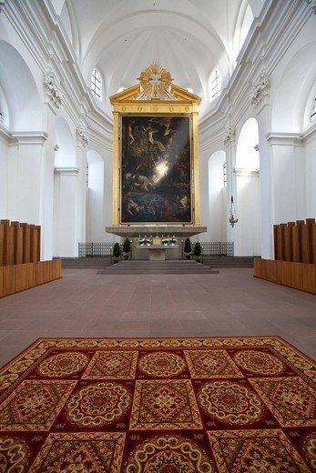 Stock Photo: 1848-559696 Collegiate Haug, Church of St. John, Wuerzburg, Bavaria, Germany, Europe