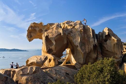 Stock Photo: 1848-560041 Rock formation Bearrock, Capo d´Orso, Mediterranean, Sardinia, Italy, Europe