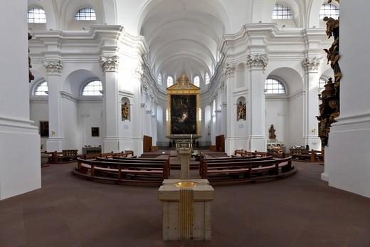 Collegiate Haug, Church of St. John, Wuerzburg, Bavaria, Germany, Europe : Stock Photo