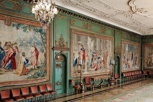 Stock Photo: 1848-560832 Garden room with Gobelins tapestries, Villa Huegel, former home of the Krupp family, Essen_Baldeney, North Rhine_Westphalia, Germany, Europe