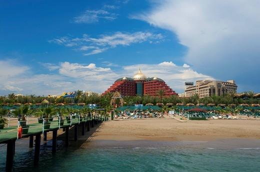 Stock Photo: 1848-560885 Delphin Palace Hotel on the beach of Antalya, Turkish Riviera, Turkey