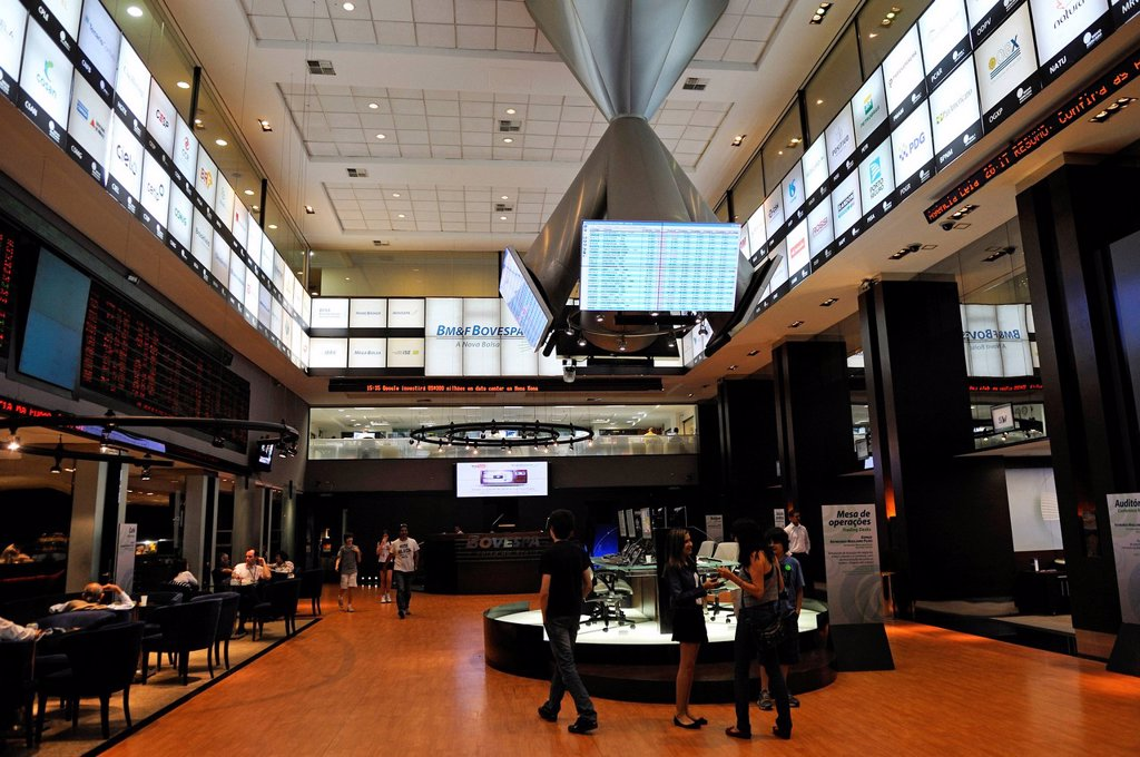 Stock Photo: 1848-561774 Visitor centre of Bovespa, the Sao Paulo Stock Exchange, Brazil, South America