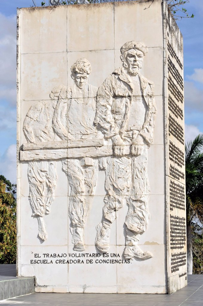Detail, Memorial to Ernesto Che Guevara, Santa Clara, Cuba, Greater Antilles, Caribbean, Central America, America : Stock Photo