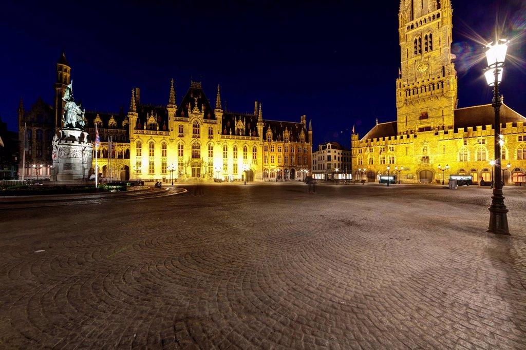 Stock Photo: 1848-562369 Provincial Government Palace, Provinciaal Hof, District Court, Grote Markt market square, historic town centre of Bruges, UNESCO World Heritage Site, West Flanders, Flemish Region, Belgium, Europe