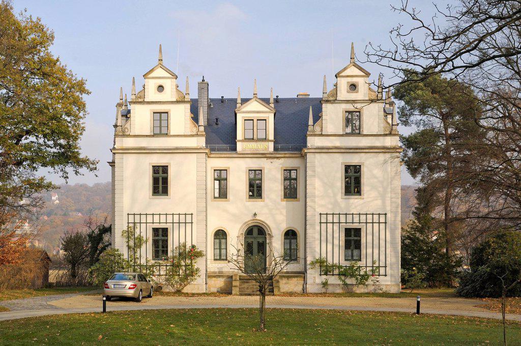 Villa Emmaus, Dresden, Saxony, Germany, Europe, PublicGround : Stock Photo