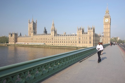 Big Ben, Houses of Parliament, London, England, Great Britain, Europe : Stock Photo