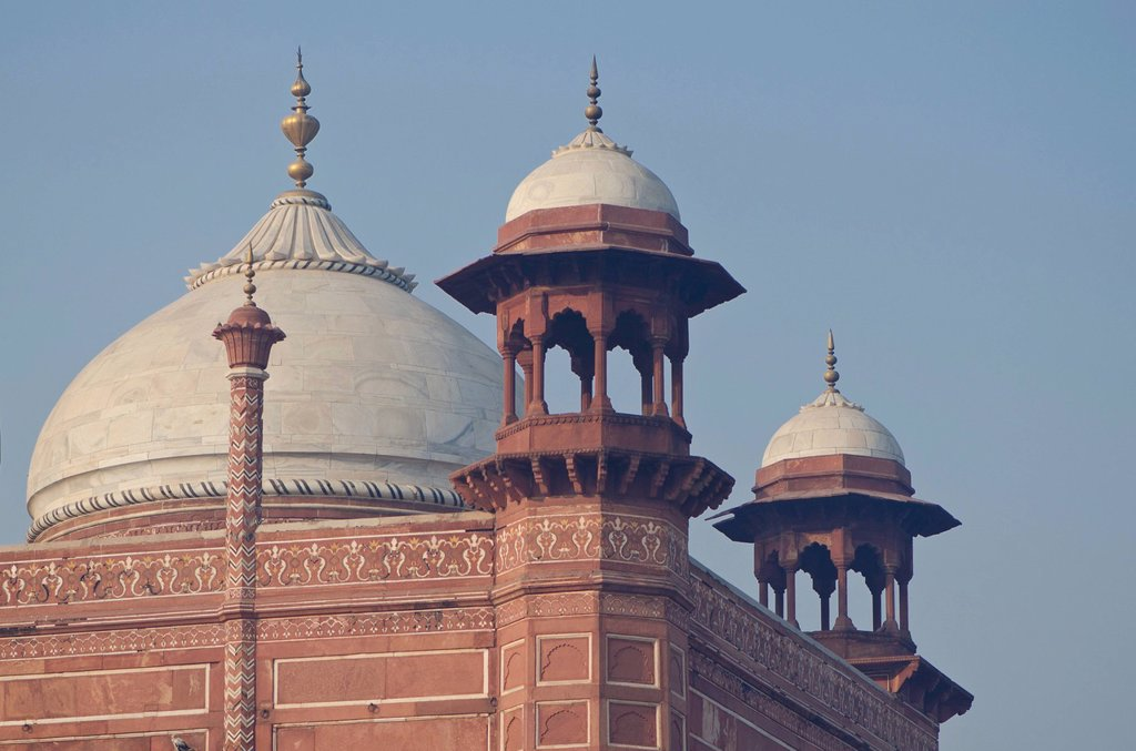 Stock Photo: 1848-564631 Detail of Taj Mahal, UNESCO World Heritage Site, Agra, Uttar Pradesh, India, Asia