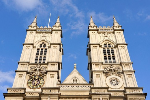 Stock Photo: 1848-5649 The twin towers of Westminster Abbey, London, England, United Kingdom, Europe