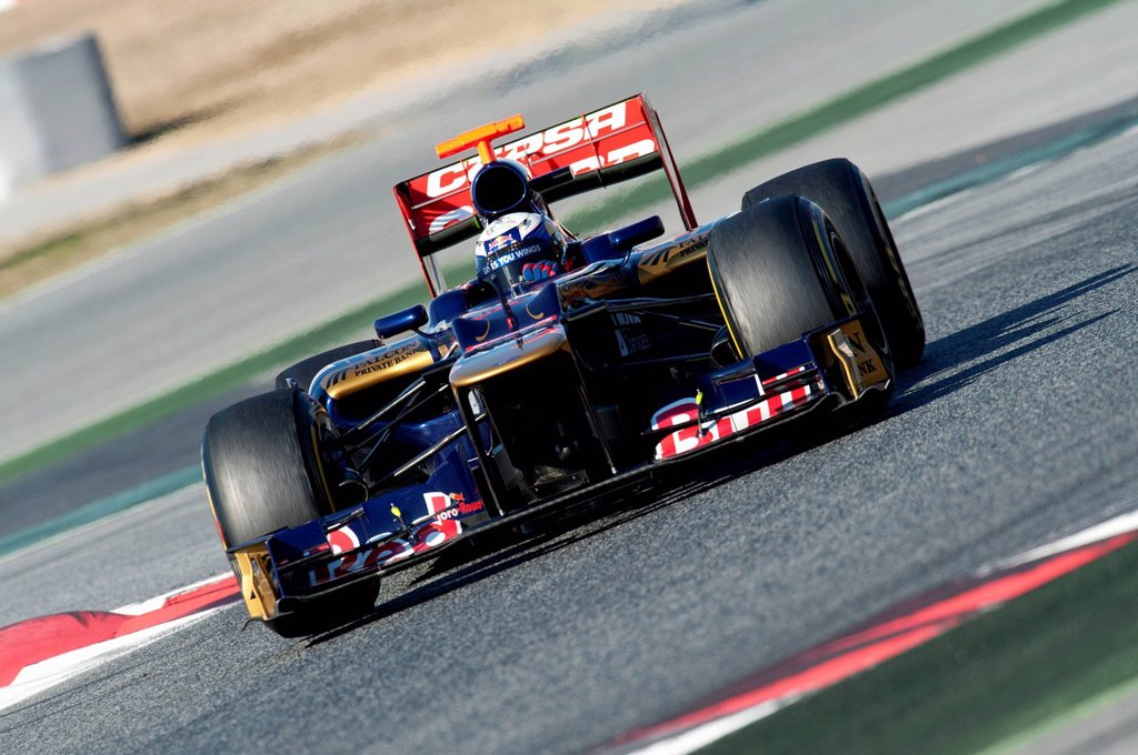 Stock Photo: 1848-565694 Daniel Ricciardo, AUS, Scuderia Toro Rosso_Ferrari STR7, during the Formula 1 testing sessions, 21_24/2/2012, at the Circuit de Catalunya in Barcelona, Spain, Europe