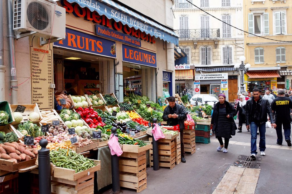Stock Photo: 1848-566864 Longue des Capucins street, market of Capucins, working_class neighborhood, Marseille, Marseilles, Bouches_du_Rhone, France, Europe