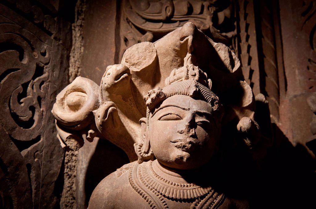 Stock Photo: 1848-567420 Decorative sculpture, Khajuraho Group of Monuments, UNESCO World Heritage Site, Madhya Pradesh, India, Asia