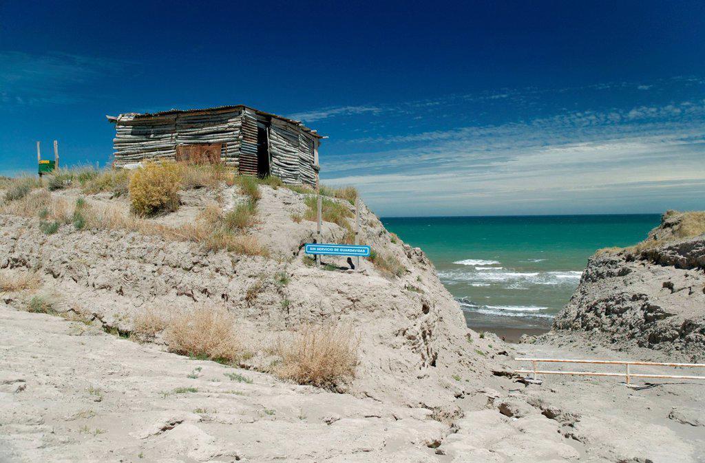 Coastline, Atlantic coast, Carmen de Patagones, Patagonia, Argentina, South America : Stock Photo