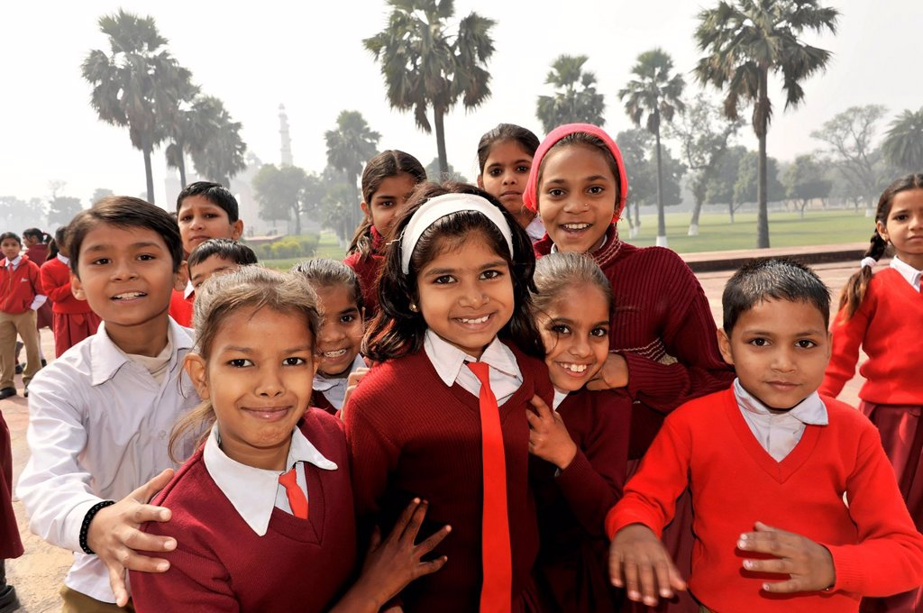 Stock Photo: 1848-567860 Indian school children, students, school class, Agra, Uttar Pradesh, North India, India, Asia