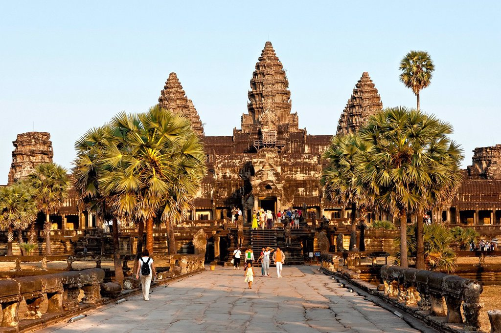 Stock Photo: 1848-568260 Angkor Wat, Cambodia, Southeast Asia, Asia