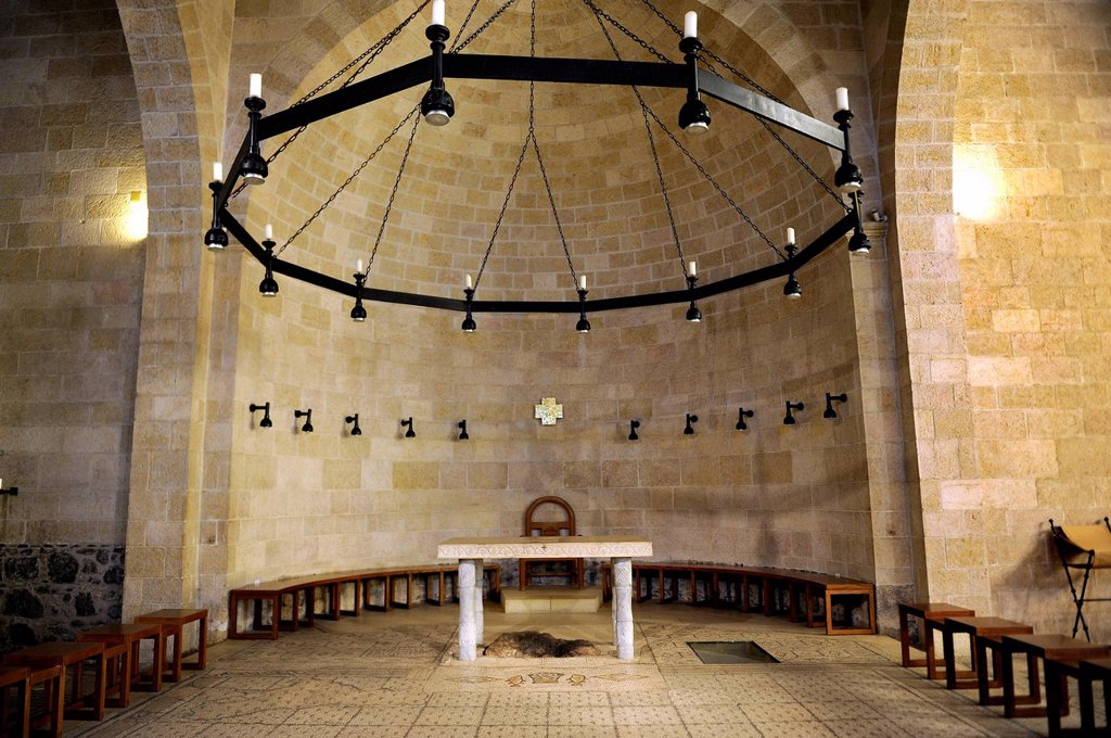 Stock Photo: 1848-568590 Interior view, Church of the Multiplication in Tabgha at the Sea of Galilee, Galilee, Israel, Middle East, Asia Minor, Asia