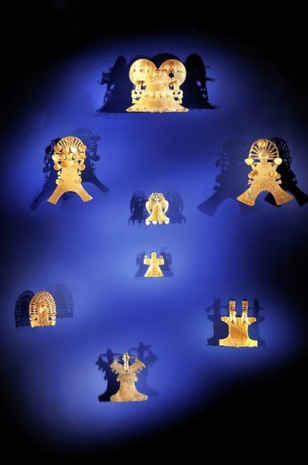Stock Photo: 1848-56927 Pre_Columbian goldwork collection, jewellery, Gold Museum, Museo del Oro, Bogotá, Colombia, South America