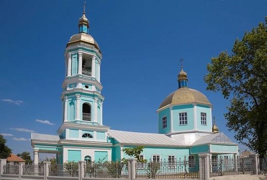 The Lipovan church Mother Mary in Wylkowe, Danube Delta, Ukraine, Eastern Europe : Stock Photo