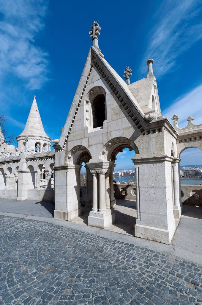 Stock Photo: 1848-569363 Halászbástya, Fisherman´s Bastion, castle hill, Budapest, Hungary, Europe