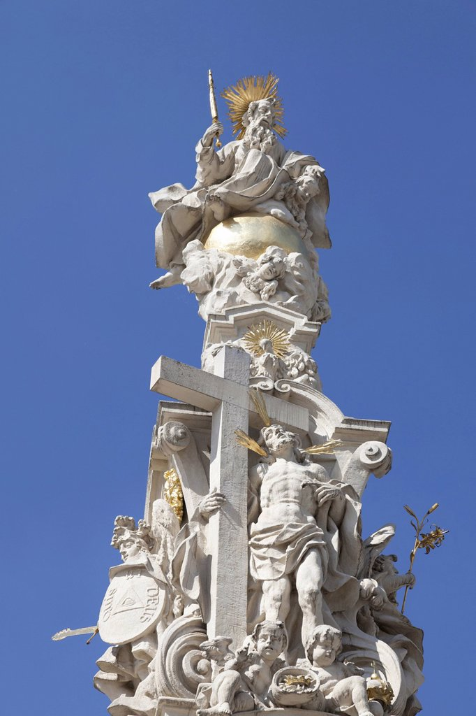 Stock Photo: 1848-570146 Holy Trinity Column in Retz, Weinviertel Region, wine quarter, Lower Austria, Austria, Europe