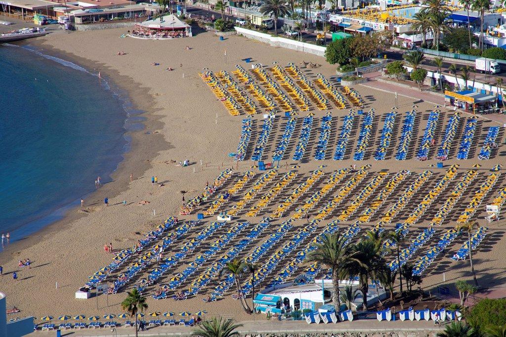 Stock Photo: 1848-570386 Beach of Puerto Rico, Gran Canaria, Canary islands, Spain, Europe, Atlantic ocean