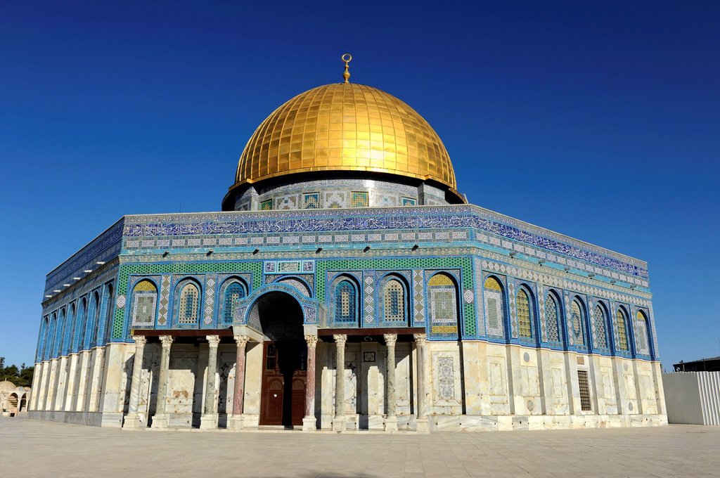 Stock Photo: 1848-571196 Dome of the Rock, Temple Mount, Old City, Jerusalem, Israel, Middle East, Asia Minor, Asia