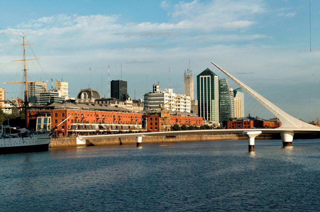 Puerto Madero, Puente de la Mujer, Buenos Aires, Argentina, South America : Stock Photo