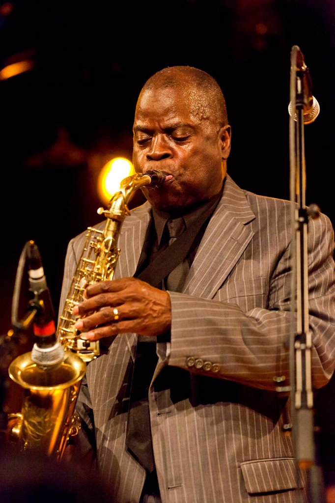 The American funk and soul jazz saxophonist Maceo Parker playing live at the Schueuer, Lucerne, Switzerland, Europe : Stock Photo