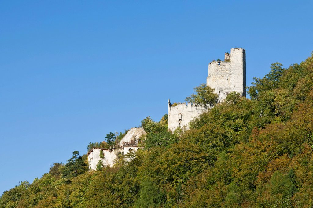 Stock Photo: 1848-571296 Ruins of Thernberg Castle, Bucklige Welt, Lower Austria, Austria, Europe