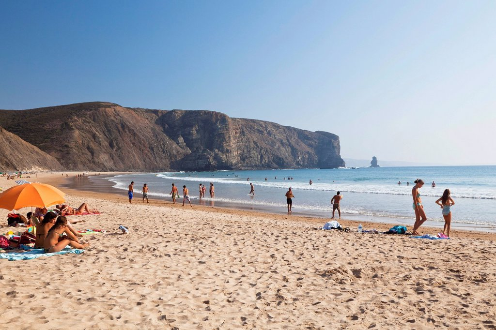 Arrifana beach, Atlantic Coast, Algarve, Portugal, Europe : Stock Photo