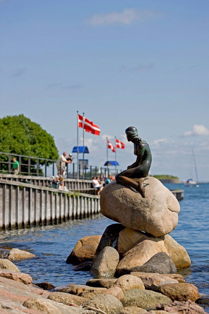 Stock Photo: 1848-573930 The Little Mermaid, Copenhagen, Denmark, Europe