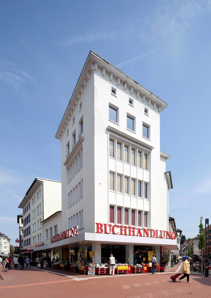 Commercial building on Kreuzplatz square, Giessen, Hesse, Germany, Europe, PublicGround : Stock Photo