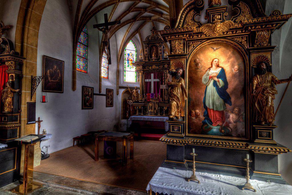 Hospital Church in Waidhofen an der Ybbs, Mostviertel, Must Quarter, Lower Austria, Austria, Europe : Stock Photo