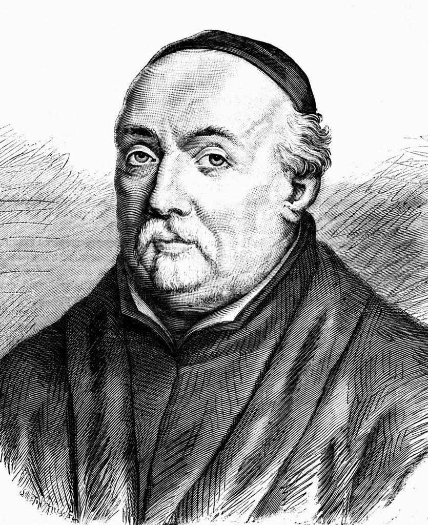 Stock Photo: 1848-574271 Jean de Bolland, 1596 _ 1665, Belgian Jesuit monk, wrote ´´Acta Sanctorum´´, historical portrait, 1865