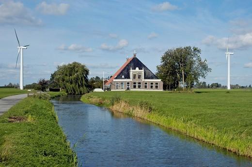 Country house, Frisia, Netherlands : Stock Photo