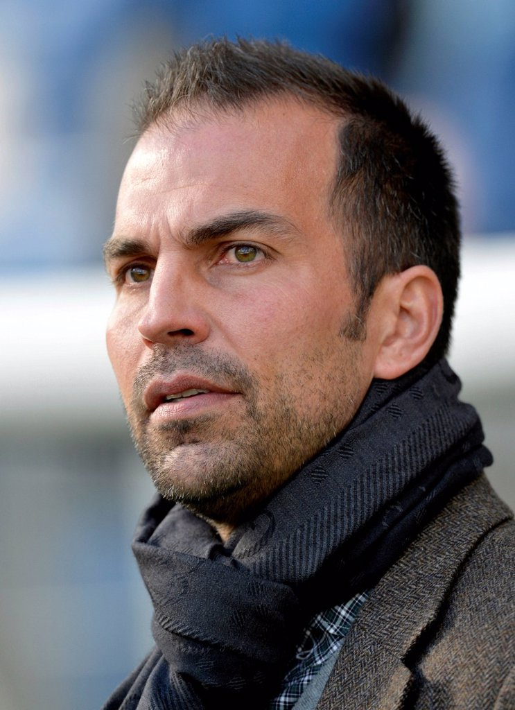 Stock Photo: 1848-574680 Coach Markus Babbel, TSG 1899 Hoffenheim soccer club, portrait, WIRSOL Rhein_Neckar_Arena stadium, Sinsheim_Hoffenheim, Baden_Wuerttemberg, Germany, Europe