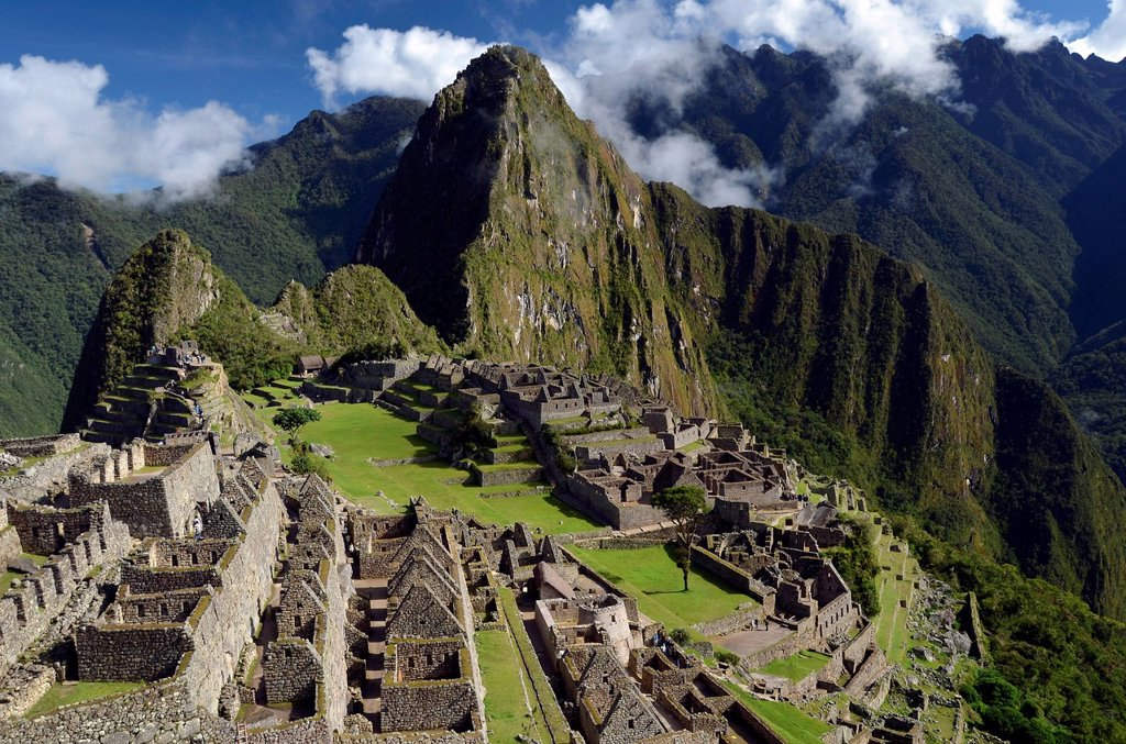 Stock Photo: 1848-574685 Inca ruins of Machu Picchu in the Andes, UNESCO World Heritage Site, Urubamba Valley, near Cusco, Peru, South America