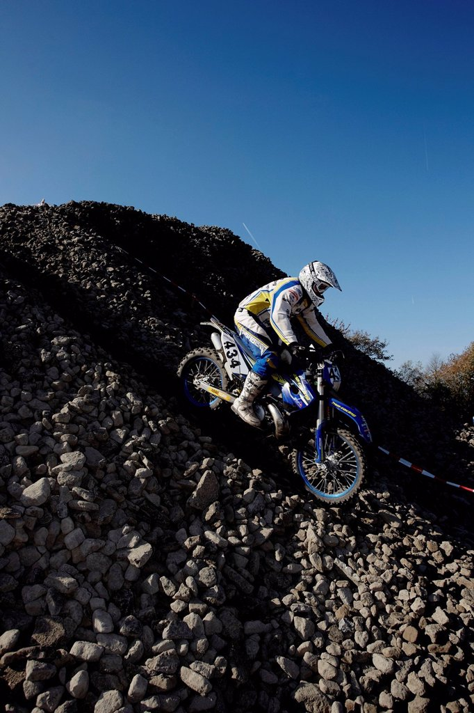 Stock Photo: 1848-575409 Mittelrheinische Gelaendefahrt, off_road motocross racing, enduro, Kempenich, Rhineland_Palatinate, Germany, Europe