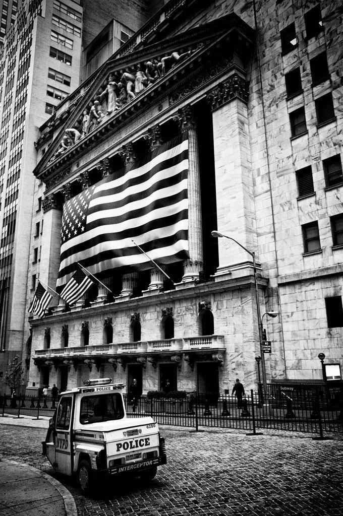 Wall Street, Financial District, Manhattan, New York City, New York, USA : Stock Photo