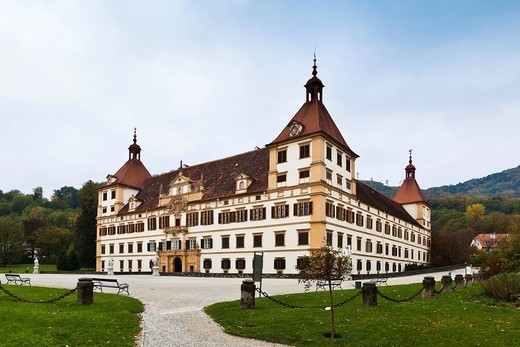 Schloss Eggenberg castle, Graz, Styria, Europe : Stock Photo