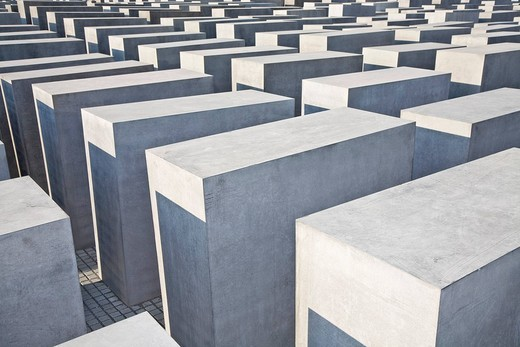 Stock Photo: 1848-57702 Holocaust memorial in Berlin, Germany