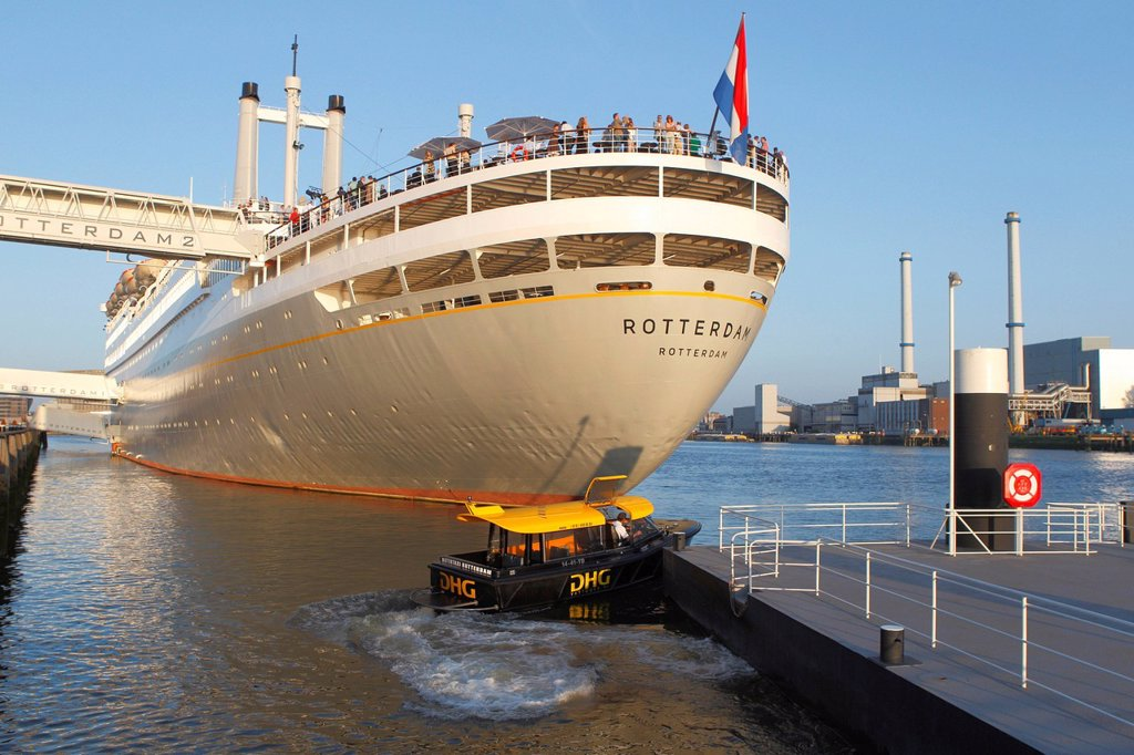Hotel, museum ship, SS Rotterdam, Rotterdam, Holland, the Netherlands, Europe : Stock Photo