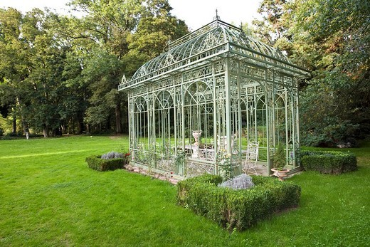 Gazebo, Weyberhoefe, Sailauf, Hesse, Germany : Stock Photo